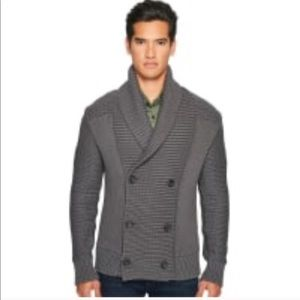 VINCE // 100% Wool Double Breasted Cardigan